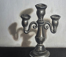 Candelabra Oil Painting
